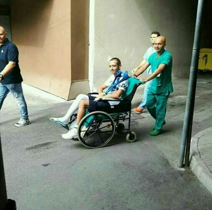 Valentino Rossi after surgery 2017