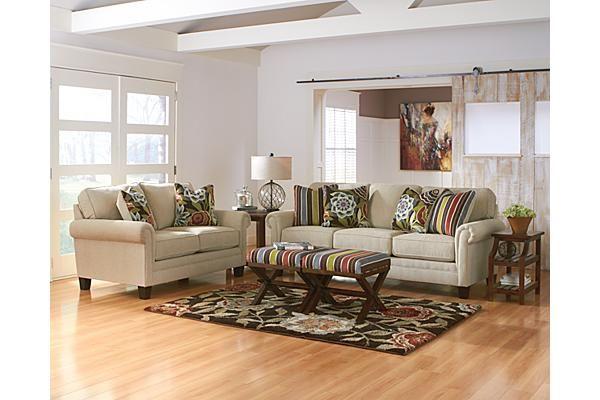 The Ballari Linen Sofa From Ashley Furniture Homestore Contrasting The Clean Light