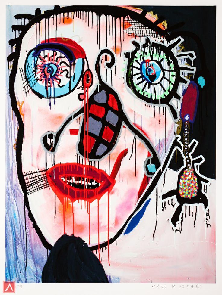 "Paul Kostabi: ""Leggo my ego"" (2013) is a handsigned & numbered gliclée."