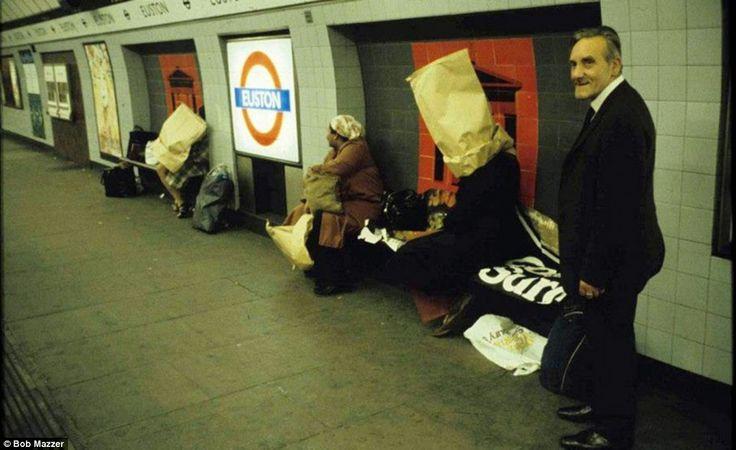 Bags on heads? Strange happenings at Euston