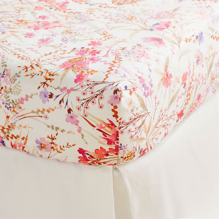 Image 1 of the product Multicoloured floral print bottom sheet