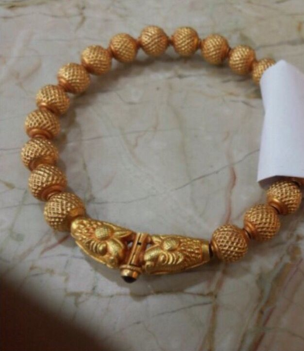 Gold Wax Beads Bangle Approx Wt- 15-20 Grams
