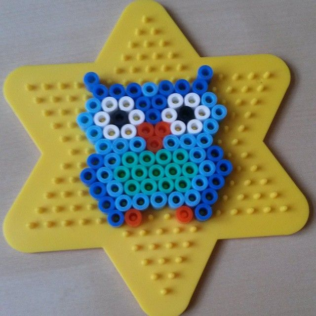 Owl hama beads by astagroen