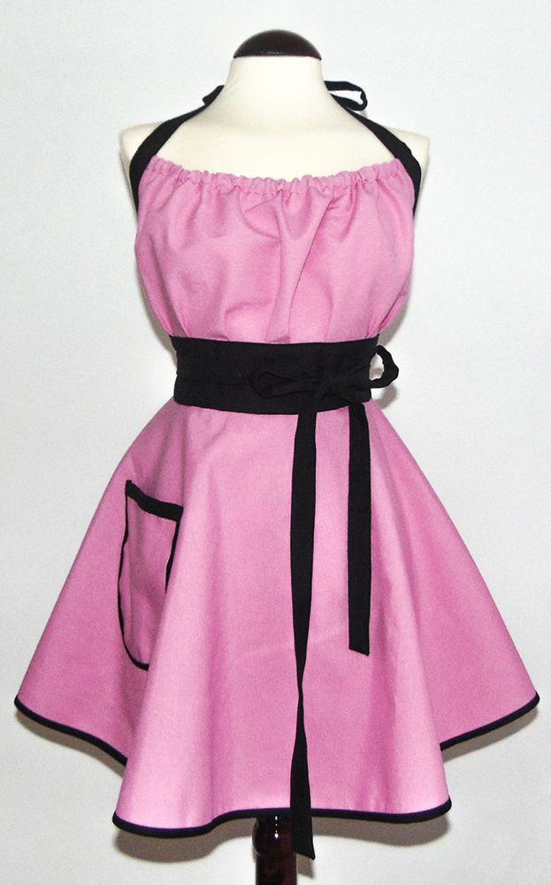 Pink Beauty (Bella en Rosa) Sentite Bella en Rosa con este delantal Jaydoga estilo vintage Delantal 70% algodón y 30% poliéster