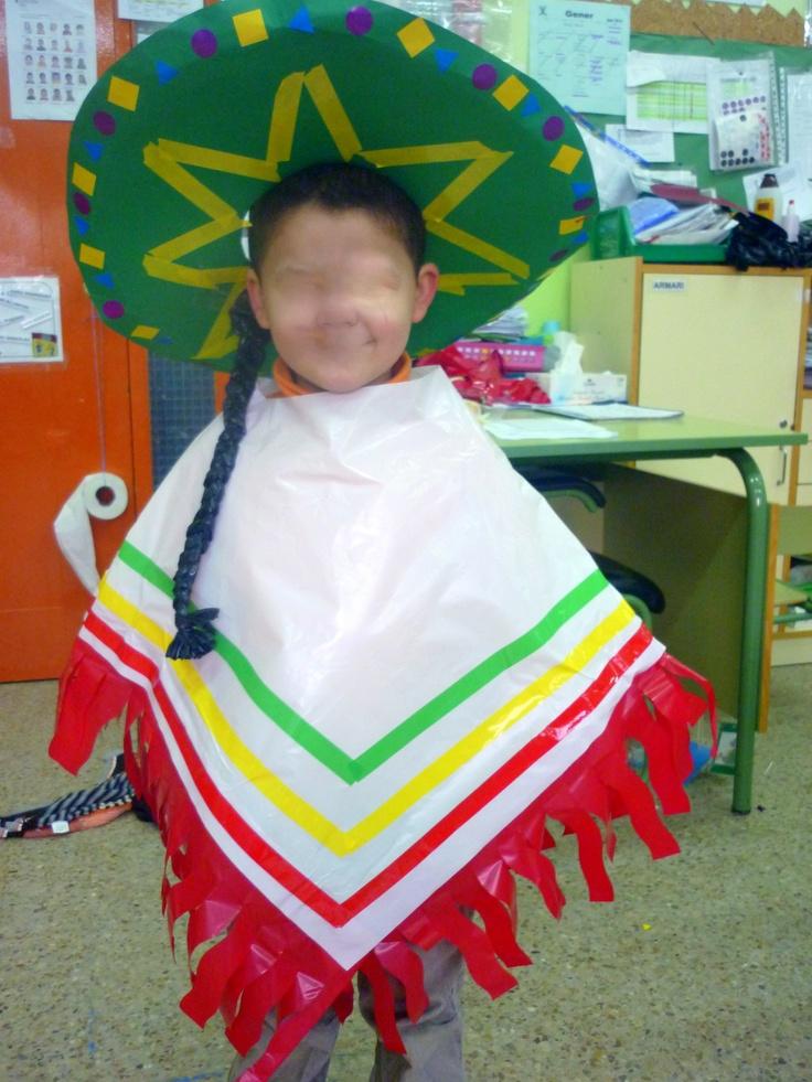 bolsas de basura disfraz de mexicano con bolsas multipapel.