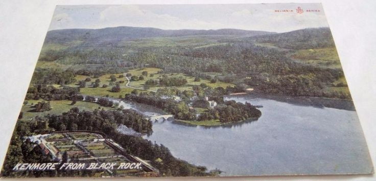 Kenmore from Black Rock - Perthshire - Antique 1908 Postcard