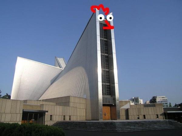 MODERN Chicken Church.