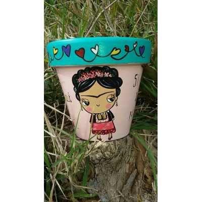 Macetas Pintadas A Mano De Frida Kahlo Con Frase - $ 135,00 en MercadoLibre