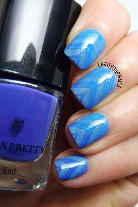 Nail art stamping blu viola termica thermal blue purple Bornprettystore #bornprettystore #stamping #nailart #thermal #nails #unghie #lightyournails