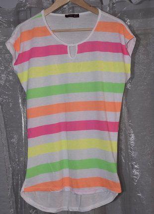 Kup mój przedmiot na #vintedpl http://www.vinted.pl/damska-odziez/koszulki-z-krotkim-rekawem-t-shirty/17172274-kolorowa-bluzeczka-w-paski-l