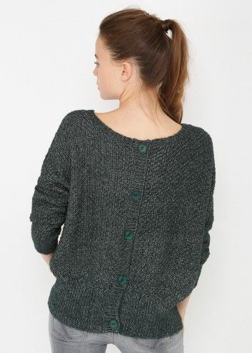 Pull mouline bouton dos - Image 3