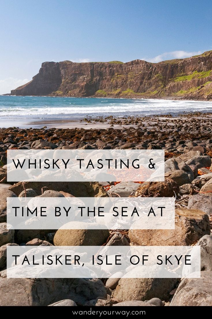 """Talisker Bay at low tide,"" Andy said to me. So I timed my visit to Talisker Distillery with the tide in mind. So after tasting some whisky I found my way to Talisker Bay. What a fabulous way to spend a day on the Isle of Skye! Click through to find out more."