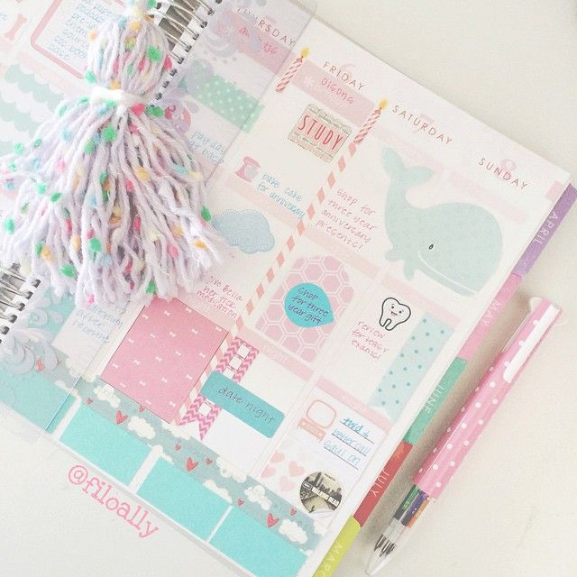 Pretty decorated planner