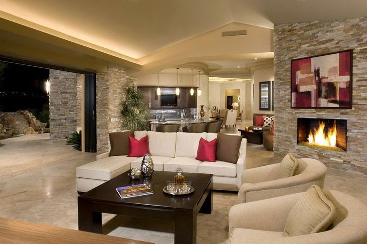 open plan braai area and livingroom indoor purple walls layout and decor ideas - Google Search