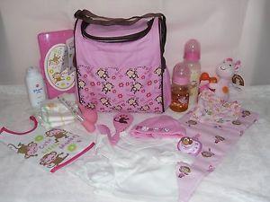 Reborn Baby Doll Diaper Bag Bottles Pacifier Blanket Clothes 4UR Reborn OOAK