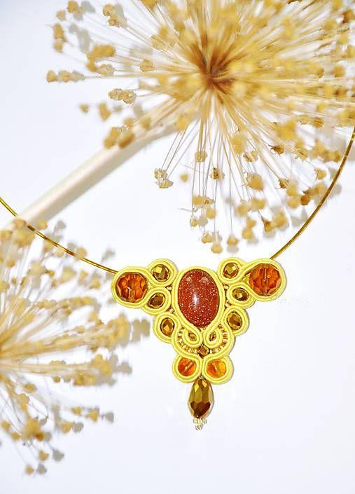 Cukorpalantak / Slnečný soutache - náhrdelník