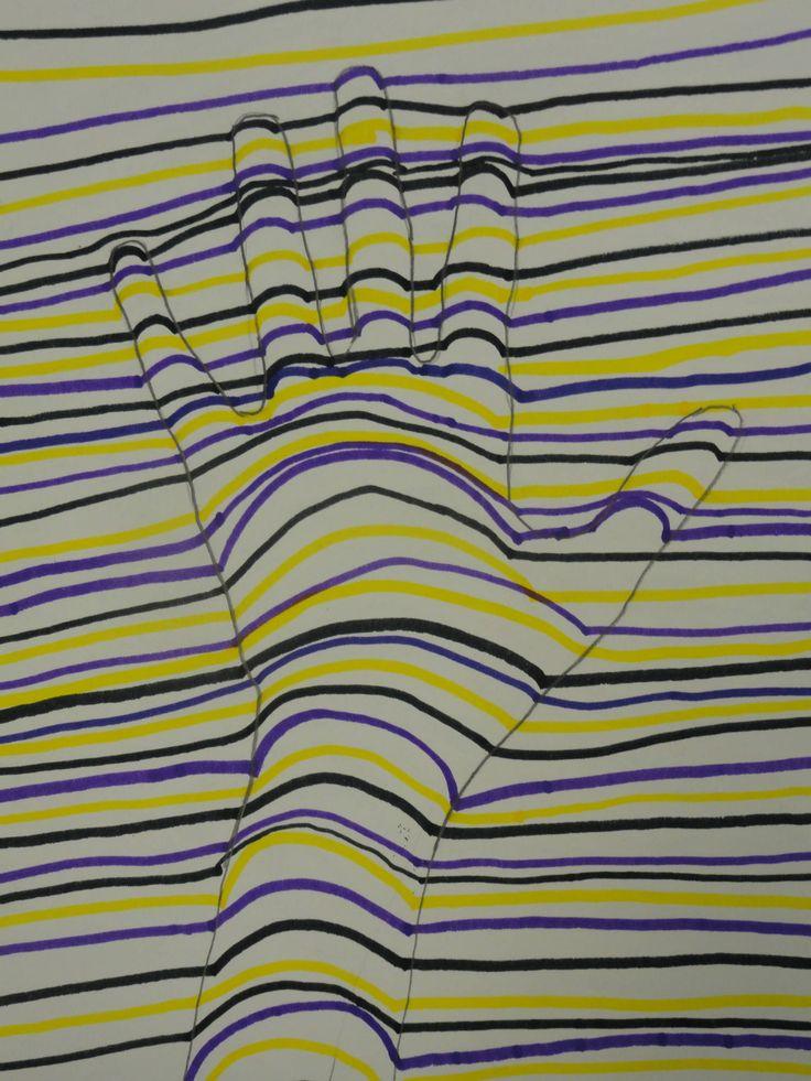 teaching line to elementary | The smARTteacher Resource: OP Art Hands