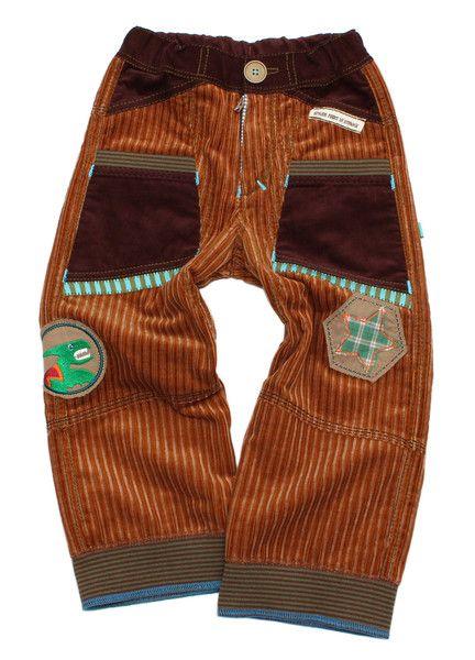 Hosen - Jungehose Gr. 98/104 MIKA Cordhose Dinos - ein Designerstück von mynata bei DaWanda