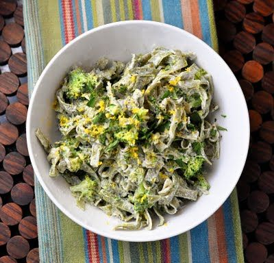 Pasta with Broccoli, Goat Cheese and Oregano
