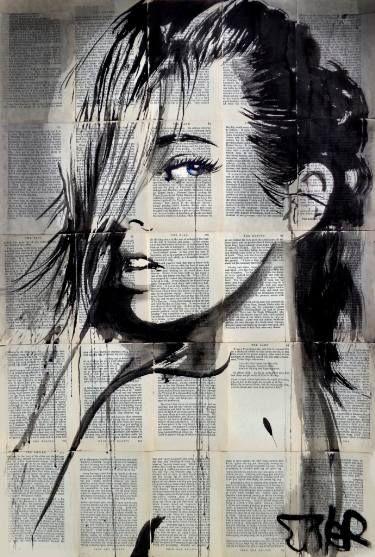 "Saatchi Art Artist Loui Jover; Drawing, ""now or never"" #art"