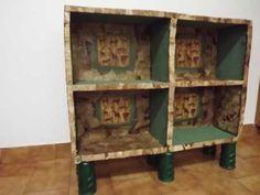 Cardboard Boxes into a Furniture.... Móvel feito de caixa de papelão!