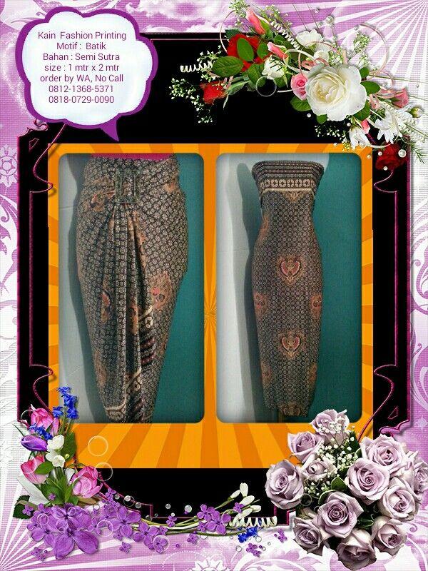 Kain Fashion Printing Motif Batik, Bisa Reques Ukuran Menerima Pesanan Seragam Ket & Order : Lihat di foto