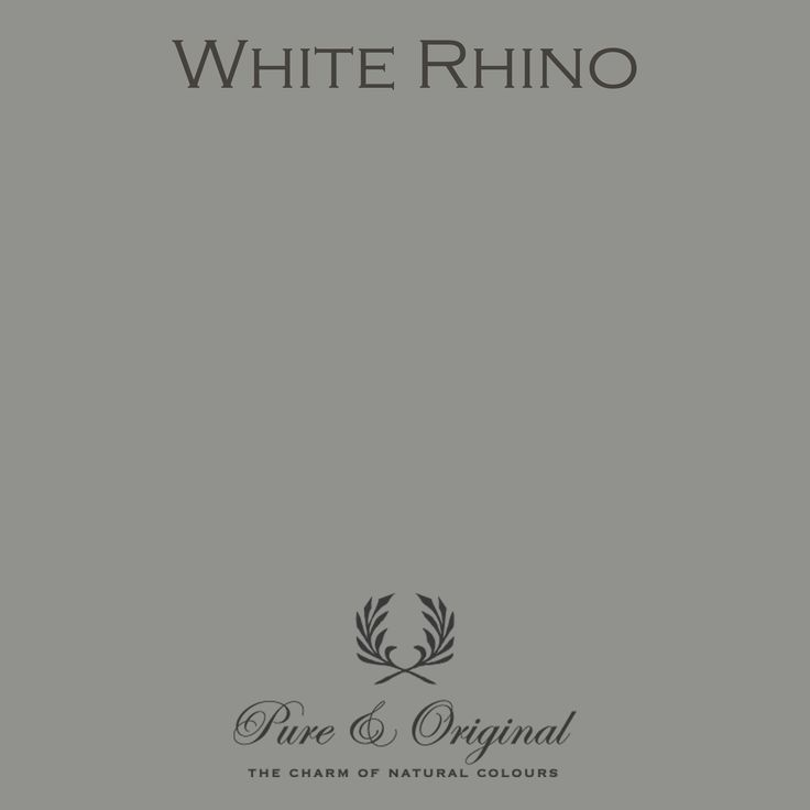 Color White Rhino - available in Kalkverf, Krijtverf, Lime paint, Chalk paint, Kritt maling, Kalk maling, Kreide Farbe, Kalk Farbe, Floorpaint, Vloerverf and much more. Colored with 100% mineral pigments.