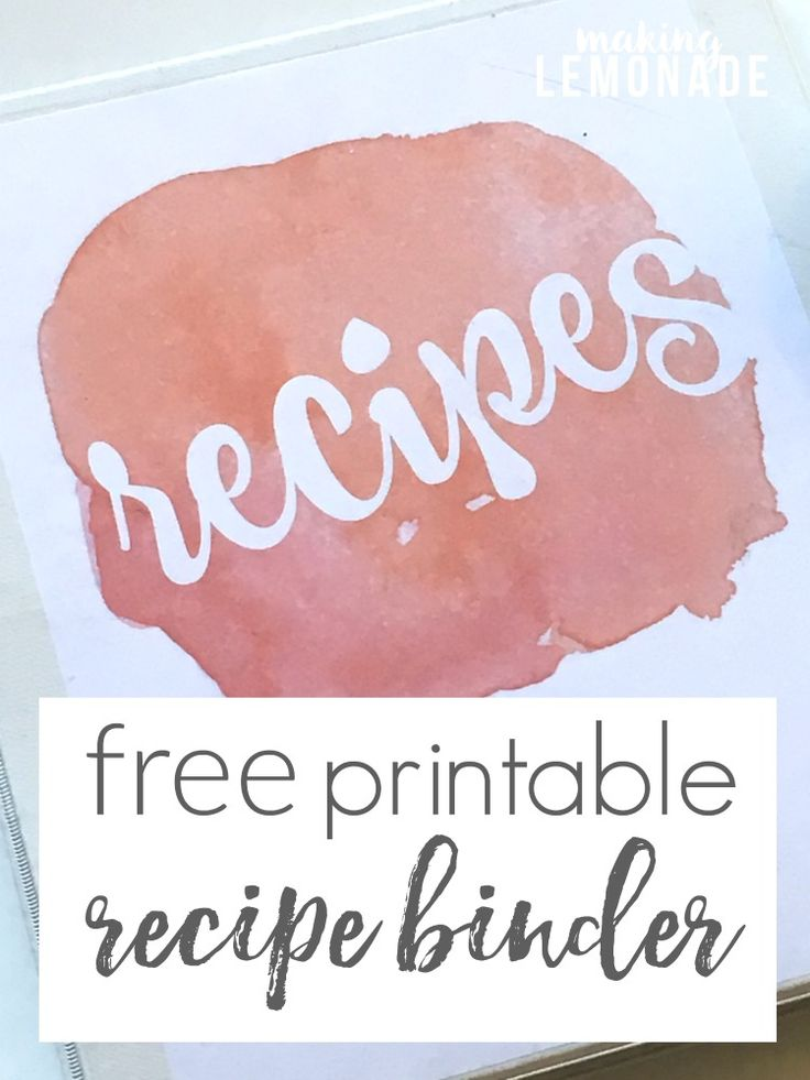 finally organize your recipes with this free printable recipe binder with choice of covers!