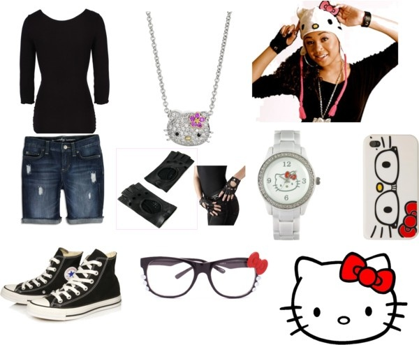 """""""Summer Hello Kitty Outfit"""" by jtdiva5675 on Polyvore"""