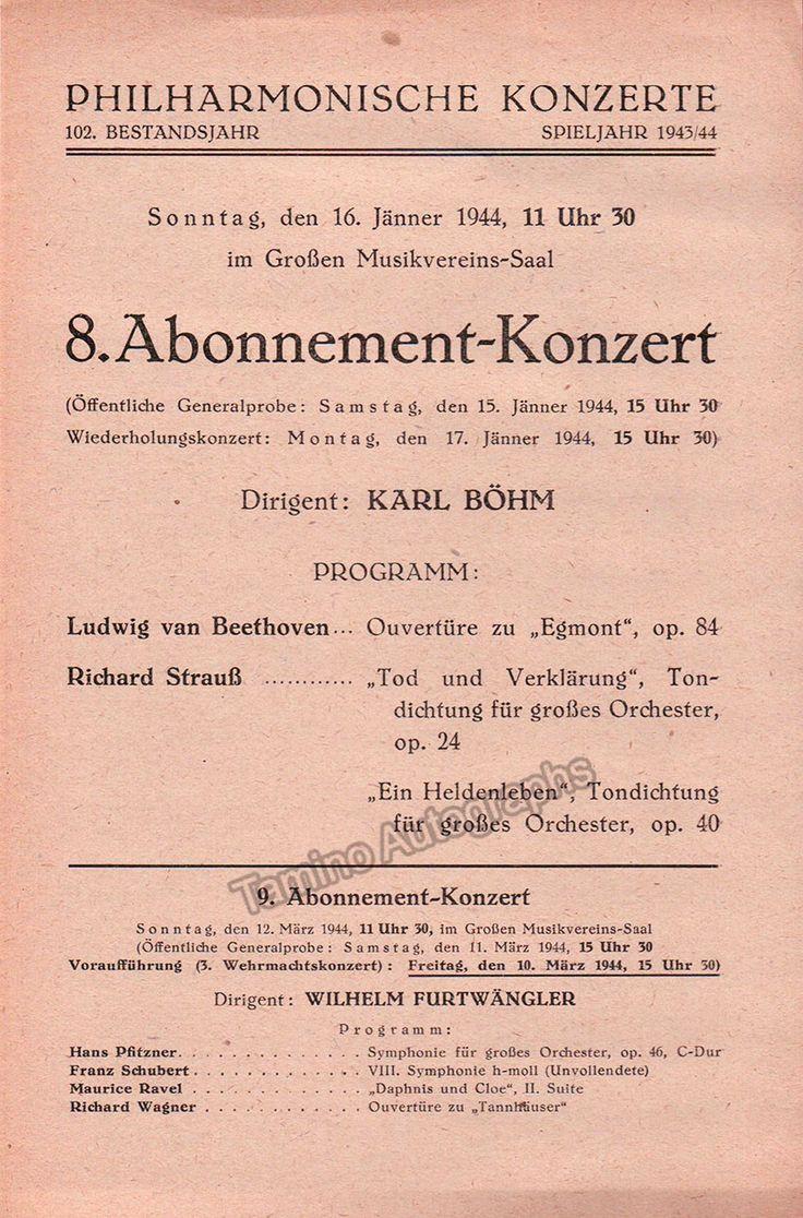 Bohm, Karl - Lot of 30+ Programs 1935-1963