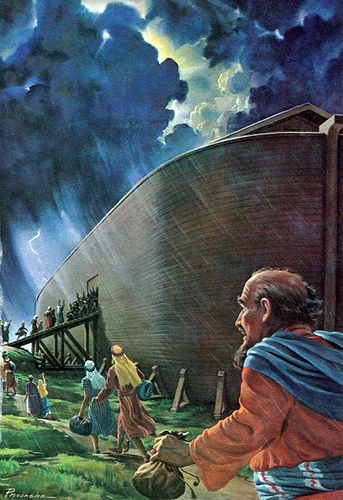 "Luke 17:26 that ""As in the days of Noah, so shall the days of the coming of the Son of Man be. People were eating, drinking, marrying and being given in marriage up to the day Noah entered the ark. Then the flood came and destroyed them all."""