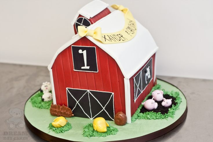 Barn Birthday Cake: Farms Birthday, Barnyard Birthday Cakes, Farms Parties, 1St Birthday, Awesome Cakes, Barns Cakes, 2Nd Birthday, Barns Birthday, Grooms Cakes
