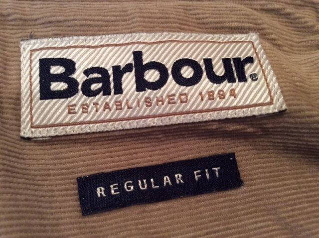 Barbour corduroy regular fit shirt Size: M (USA) 100% Cotton Made in Indonesia #Barbour #Shirt #corduroy