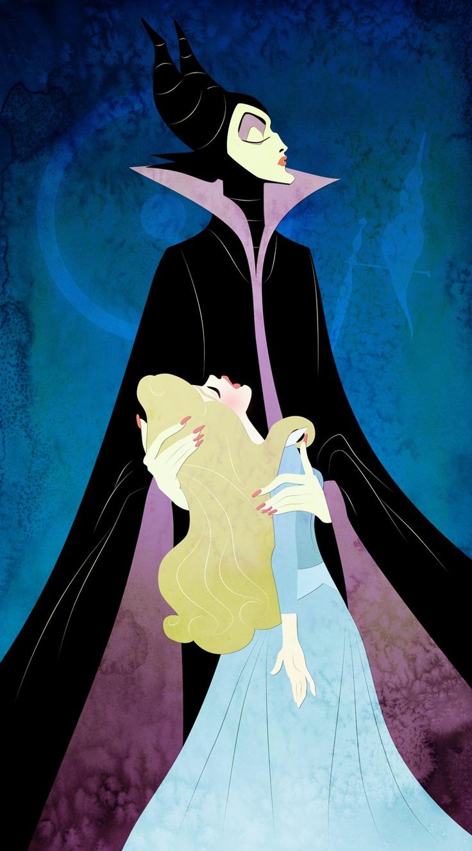 Aurora and Maleficent ...