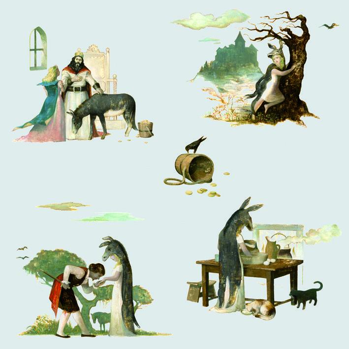 """Papier peint """"Peau d'Âne"""" par Laurent Cilluffo... Le choix des couleurs est laissé au goût de chacun. Voici une proposition..."""