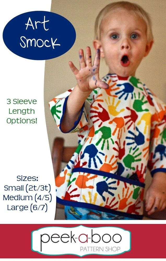 Art Smock pattern $4.99 at peek-a-boo pattern shop