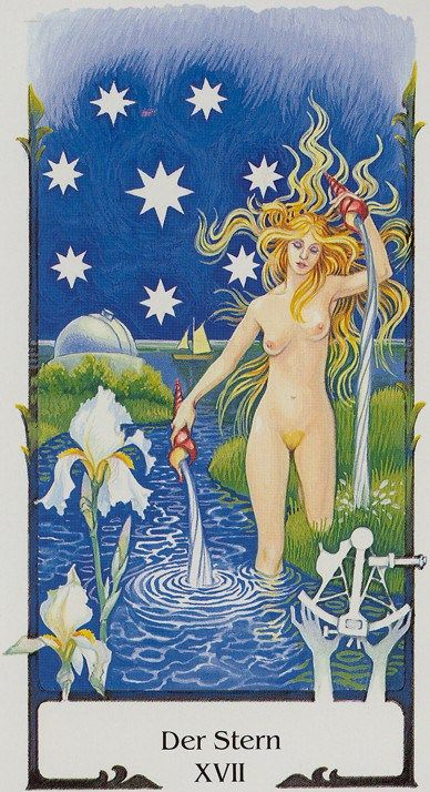 Star, from the beautiful Tarot of the Old Path.