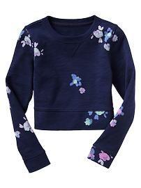 Shrunken floral sweatshirt