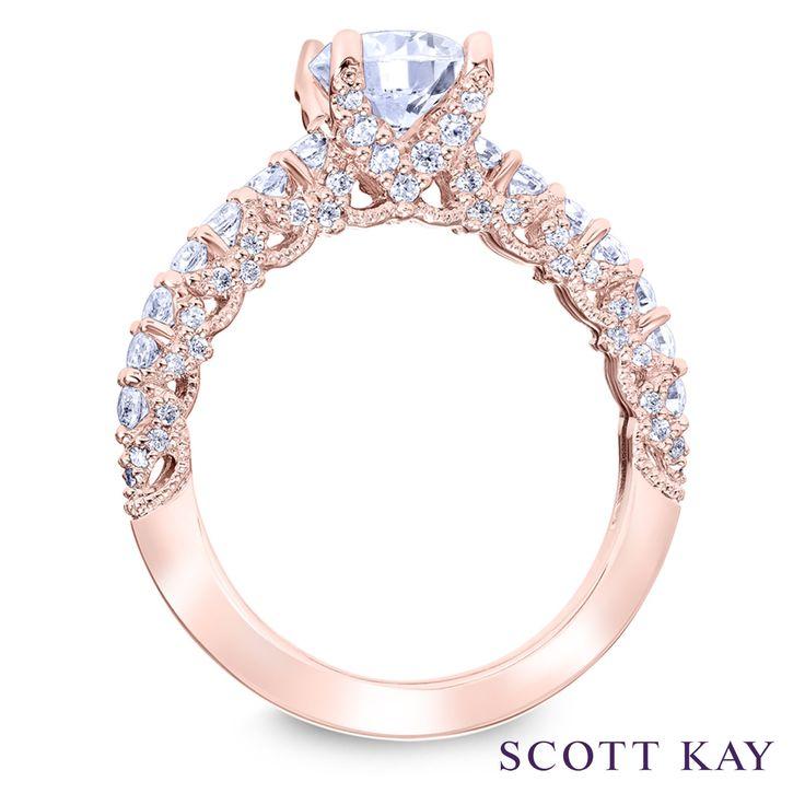 Rose gold with elegant embellished detailing on this Scott Kay #Luminaire