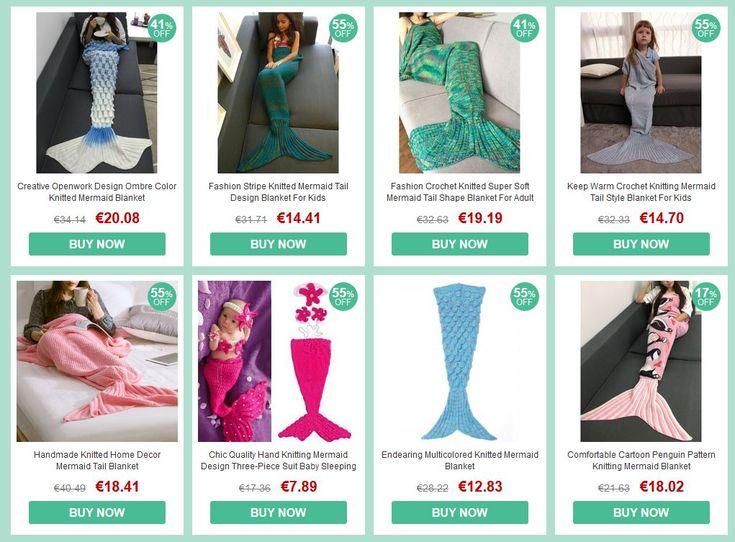 Verras je vrouw, dochter of iemand anders met een originele deken: De zeemeermin-deken in alle kleuren en maten, ook voor kinderen en baby's :-)  http://gadgetsfromchina.nl/heerlijk-voor-op-de-bank-zeemeermindekens/