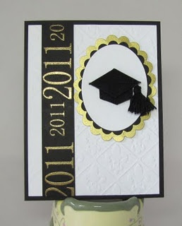 "Graduation... I like the ""year"" on the black and gold ribbon section."