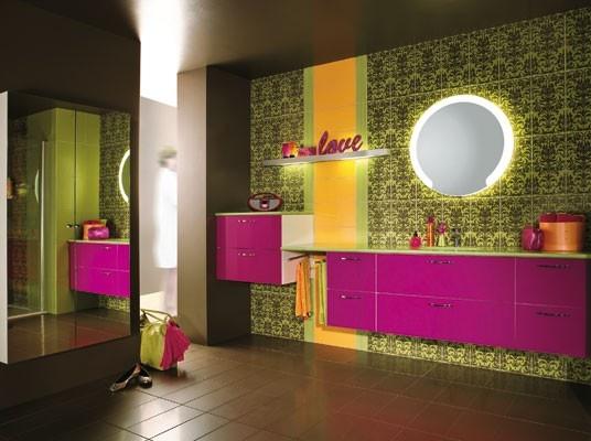 186 best bathroom colors images on pinterest bathroom for Funky bathroom wallpaper ideas