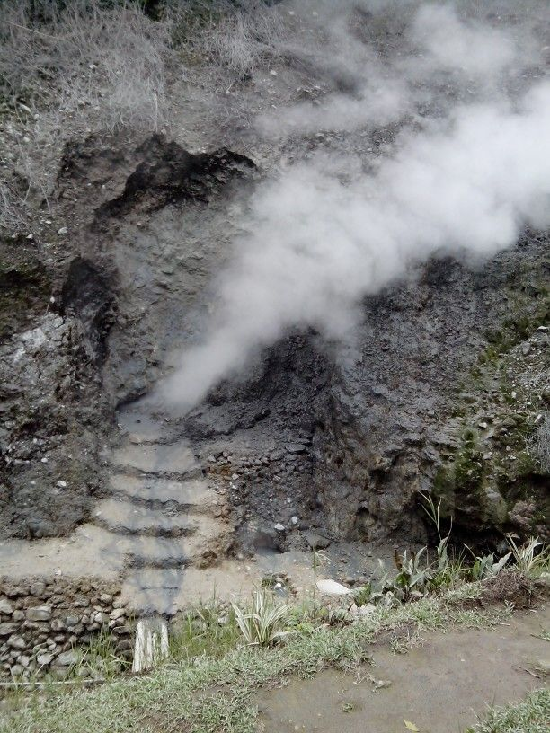 Sulfur from gedongsongo temple