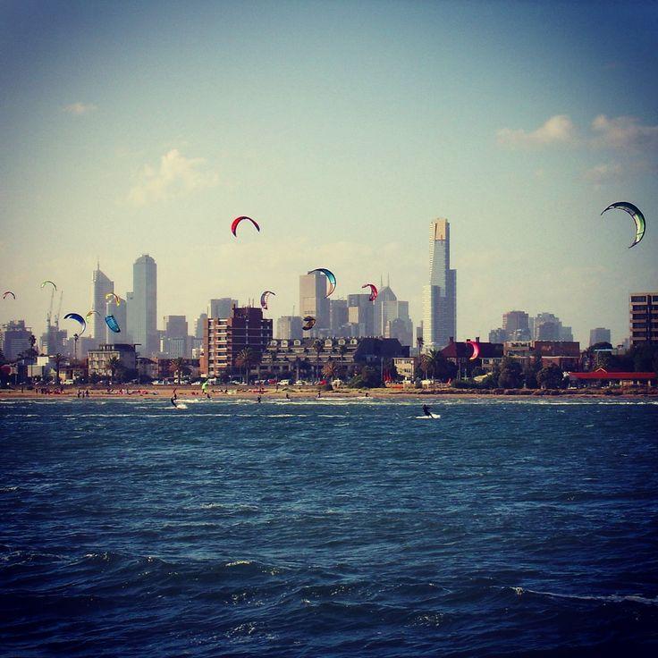 St. Kilda Beach, #Melbourne #viaggioliberamente #kitesurf #australia #stkildabeach