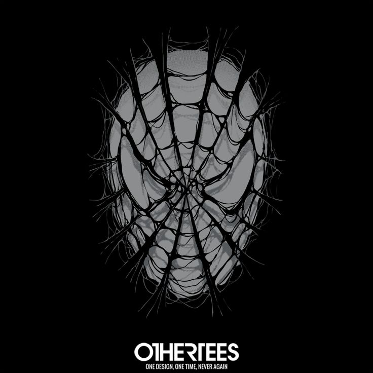 """Spider Web"" by RicoMambo T-shirts, Tank Tops, V-necks, Sweatshirts and Hoodies are on sale until February 7th at www.OtherTees.com  #spiderman #marvel #comics #spiders #othertees #peterparker"