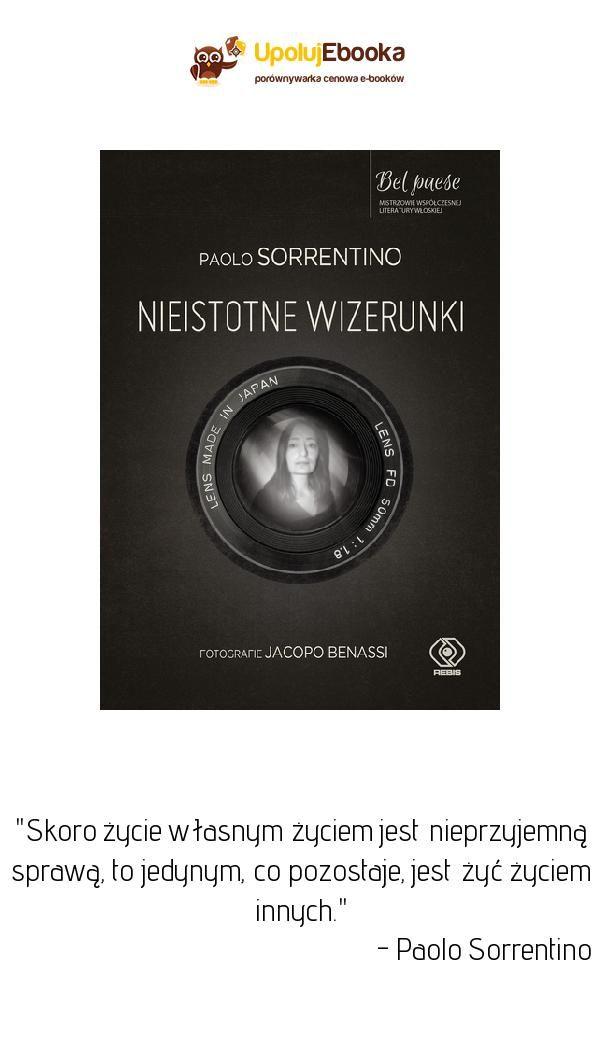 Nieistotne Wizerunki Paolo Sorrentino Ebook Ksiazka Paolo Ebook Movie Posters