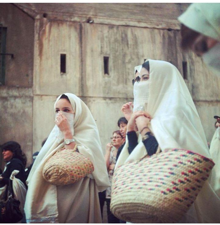 "based-on-faith:Women in the traditional Algerian ""hayek"" @lacoxx"