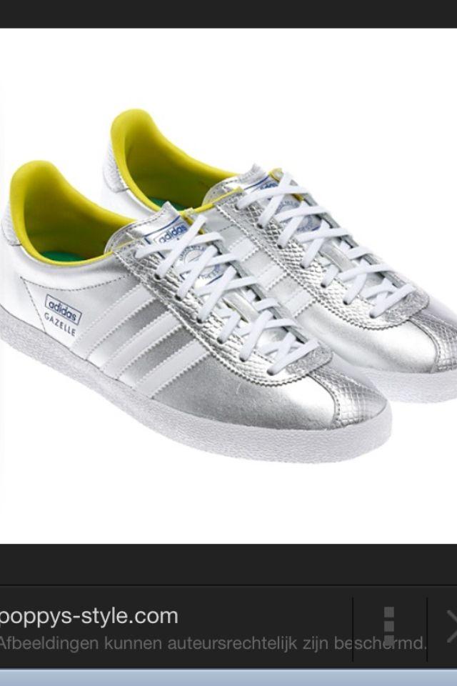 Adidas gazelle silver