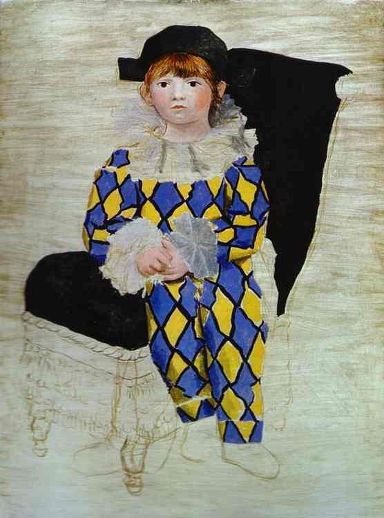 Pablo Picasso. Paulo, Picasso's Son, as Harlequin. 1924. Oil on canvas. Musée Picasso, Paris, France.