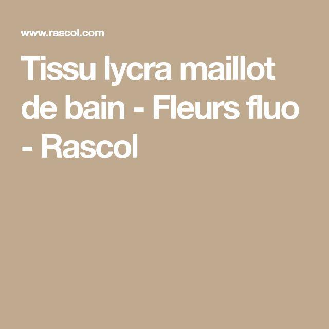 Tissu lycra maillot de bain - Fleurs fluo - Rascol